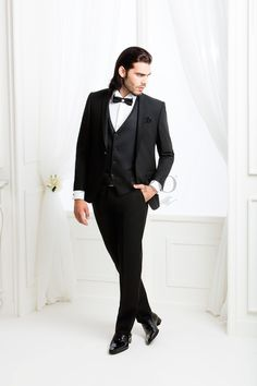 UGS 8013 U  #sposo #groom #suit #abito #wedding #matrimonio #nozze #nero #black