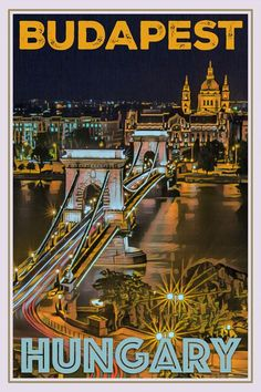 Travel Europe – The Home of Culture – Europe – Visit it and you will love it! Art Deco Posters, Poster Prints, Retro Posters, Illustrations Vintage, Budapest Travel, Vintage Travel Posters, Travel Aesthetic, Planer, Instagram