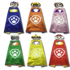 Cape and Mask Set     Tag a friend who would love this!     FREE Shipping Worldwide     Get it here ---> https://www.hobby.sg/paw-cape-and-mask-set-patrol-costume-kids-birthday-party-favor-halloween-kids-cosplay-dog-paw-cape/    #CardGames