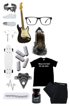 """""""English Lit - Classroom Rose"""" by emoinnuendo ❤ liked on Polyvore featuring Mormor, Wood Wood, Ana Accessories, Graftobian and Sterling Forever"""