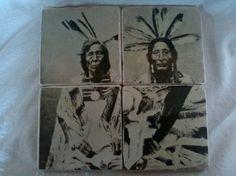 Native American Tumbled Marble Coasters von MelloDDesigns auf Etsy