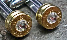 9mm Winchester Brass Bullet Head Cufflinks Your Choice