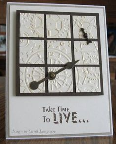 by Carol Longacre.... embossed first then cut into small squares - Could do with any folder.