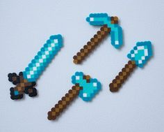 Do you have a favourite Minecraft parody? Or are you looking to discover more great Minecraft parodies? Thanks to Minecraft's popularity there are no shortage of song parodies available. Minecraft has some of the best song parodies I have ever. Minecraft Hama, Minecraft Crafts, Minecraft Party, Minecraft Iron, Minecraft Sword, Minecraft Stuff, Melty Bead Patterns, Iron Tools, Beading Tools