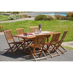 329.99 € ❤ Promo #Jardin - Ensemble #Table extensible de jardin 120/180 x 90 cm + 6 chaises en teck huilé ➡ https://ad.zanox.com/ppc/?28290640C84663587&ulp=[[http://www.cdiscount.com/maison/jardin-plein-air/ensemble-en-teck-huile-table-extensible-de-jardin/f-117850208-501182.html?refer=zanoxpb&cid=affil&cm_mmc=zanoxpb-_-userid]]