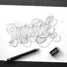 Hand Lettering 101, Tattoo Lettering Fonts, Hand Lettering Tutorial, Hand Lettering Alphabet, Graffiti Lettering, Typography Letters, Typo Logo Design, Lettering Design, Brand Identity Design