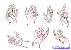 How To draw hands all positions