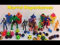 Marvel Superheros Adventures   Power Rangers Play Doh   Hulk, Superman, ...