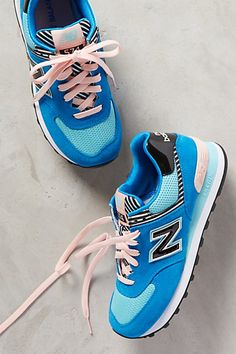New Balance WL 574 Sneakers from anthropologie - these colors are so cute!