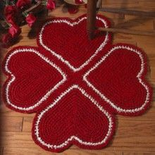 Crochet heart rug pattern.  TRS