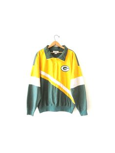Vintage 1990s Green Bay PACKERS NFL Football 1/4 Zip Pullover Sz M by FreshtoDeathVintage on Etsy