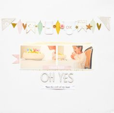 #papercraft #scrapbook #layout. Oh yes! by mariatsil at @studio_calico