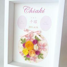 Baby Gift (出産祝) - 《NK craft》ペーパークイリング作家が作るウェルカムボード、サンクスボード、ペーパーアイテム