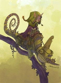 """""""Elf Chameleon Rider"""" by Carlos Luzzi*  • Blog/Website   (www.carlosluzzi.com) ★    *Please support the Artists and Studios featured here by buying this and other artworks in their official online stores • Find us on www.facebook.com/CharacterDesignReferences   www.pinterest.com/characterdesigh   www.characterdesignreferences.tumblr.com    www.youtube.com/user/CharacterDesignTV and learn more about #concept #art #animation #anime #comics    ★"""