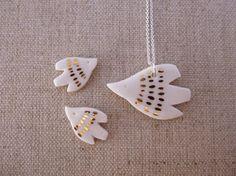 Birdie Stud Earrings by andODesign on Etsy