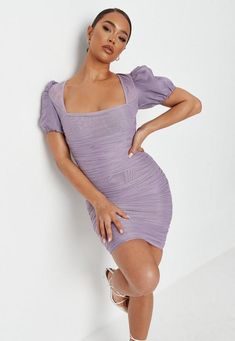 Purple Dress Outfits, Lilac Dress, Mesh Dress, Dress Skirt, Bodycon Dress, Leopard Print Leggings, Summer Chic, Mini Dress With Sleeves, Purple Lilac