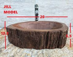 Custom Concrete wood log sink tree basin vessel vanity | Etsy