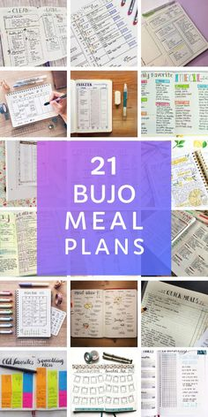 21 Creative Bullet Journal Meal Plan Ideas {to keep you organized and well fed!} - Health and wellness: What comes naturally