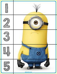 FREE! Minions #1-5 Puzzles - Autism & Education