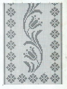 Crochet on Stylowi. Filet Crochet Charts, Crochet Motifs, Crochet Flower Patterns, Knitting Charts, Crochet Designs, Crochet Doilies, Cross Stitch Bookmarks, Cross Stitch Borders, Cross Stitch Designs