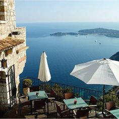 Chateau Eza, Eze France - had a very special birthday lunch on that very terrace.