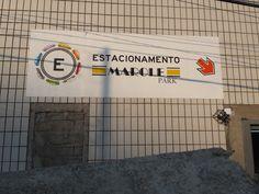 pintura de logo e sinalização de estacionamento - Marole