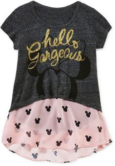 DISNEY MINNIE MOUSE Minnie Mouse Chiffon Tee - Girls 7-16
