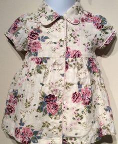 OLD NAVY Vintage Floral 0 3 M NB Infant Flora Dress Summer Baby Girls EUC
