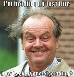 An image tagged jack nicholson crazy hair Work Memes, Work Humor, Funny As Hell, Funny Shit, Sarcastic Humor, Crazy Hair, Hair Humor, Laugh Out Loud, Make Me Smile