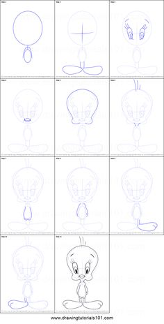 61 New Ideas For Baby Cartoon Drawing Looney Tunes Easy Disney Drawings, Disney Drawings Sketches, Cute Easy Drawings, Art Drawings Sketches Simple, Pencil Art Drawings, Baby Cartoon Drawing, Drawing Cartoon Characters, Baby Drawing, Cartoon Drawings