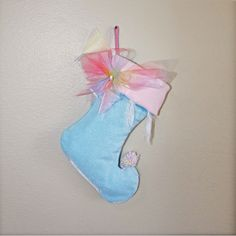 Fairy Christmas Stocking Baby Blue by BelieveinMermaids on Etsy