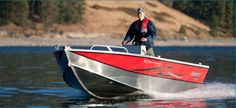 New 2012 Hewescraft 160 Open Fisherman Multi-Species Fishing Boat - Love the red and silver.