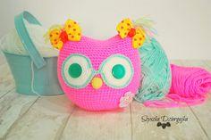 Sowa szydełkowa przytulanka Crochet owl
