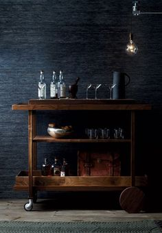 Want this moody barcart forever. From Kika Reichert inspirations