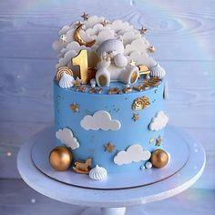 Birthday Cake Kids Boys, Baby Boy Birthday Cake, Pretty Birthday Cakes, Baby Birthday Cakes, Baby Boy Cakes, Birthday Cakes For Women, Girl Cakes, Cake Name, New Cake