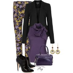 Print Trousers, created by derniers on Polyvore