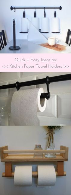 Ideas for kitchen paper towel holder http://www.ikeahackers.net/2017/09/ideas-kitchen-paper-towel-holder.html
