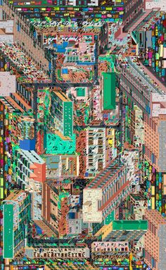 Tuan Jie Hu Panorama Beijing-based Drawing Architecture Studio (DAS) represents a residential district in Beijing in a panoramic drawing with inspiration from Colin Rowe's phenomenal transparency theory.