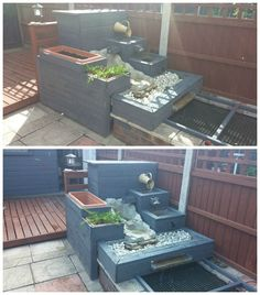 Pallet Water Feature #Garden, #RecycledPallet