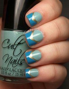 Medieval Nails  #Nailart #frenchtips #polish - bellashoot.com