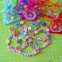 Kids Personalized Luau Party Favors Flower Lei by stargazinglily, $4.25