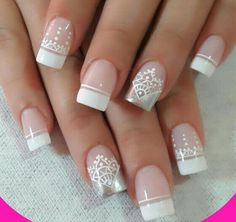 Uñas Cute Nails, Pretty Nails, My Nails, Bride Nails, Wedding Nails, French Nails, Romantic Nails, Gel Nagel Design, Luxury Nails