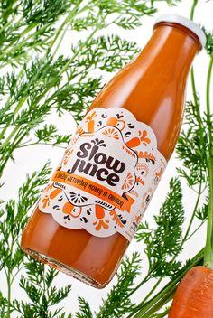 Slow Juice packaging.