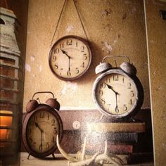 Rusty old clocks