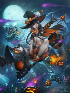 league-of-legends-sexy-girls:  A Halloween Over Piltover by...