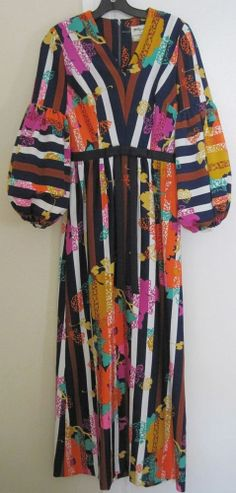 Rare Vintage Tori Richard Hawaiian Maxi Dress
