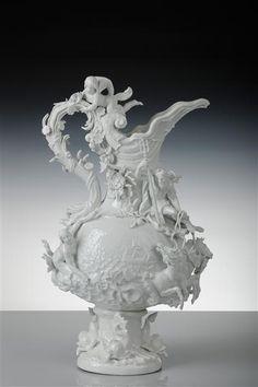 "Kändler, Vase (""Water"") from garniture for Louis XV, ca. 1741"
