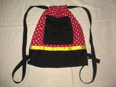 Disney Minnie Mouse Inspired Drawstring Backpack by AvaBabyCo