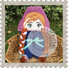 Ice Princess hooded towel design. #Embroidery #Applique