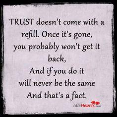 Don't lose ur trust!!